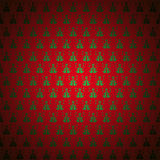 Seamless pattern red christmas-tree, sno Stock Photos