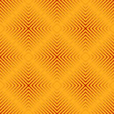 Seamless pattern with red colors sharp lines on yellow background. Optical illusion effect wallpaper. Bright abstract ornament. Ethnic and tribal motifs Stock Photos