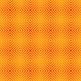 Seamless pattern with red colors sharp lines on yellow background. Optical illusion effect wallpaper. Bright abstract ornament. Ethnic and tribal motifs Royalty Free Stock Photo