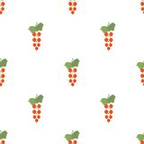 Seamless pattern with red currant Royalty Free Stock Photography