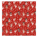 Seamless pattern on red. Royalty Free Stock Photo