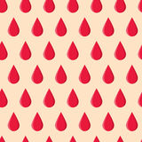 Seamless pattern with red drops. Vector seamless pattern with red drops. Cute repeated illustration for hospital, clinic, packaging, textiles. Template for your Royalty Free Stock Photo