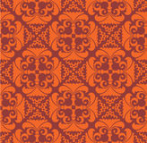 Seamless pattern with red  floral theme Royalty Free Stock Photo