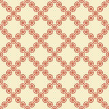 Seamless pattern with red flower shapes. Stock Photography