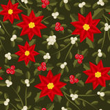 Seamless pattern with red flowers Stock Photography