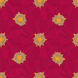 Seamless pattern with red flowers. Can use for printing on the Royalty Free Stock Images