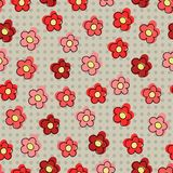 Seamless pattern with red flowers. For textiles, interior design, for book design, website background Stock Images