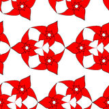 Seamless pattern of red flowers Stock Photos