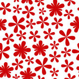 Seamless pattern with red flowers. On white Royalty Free Stock Image