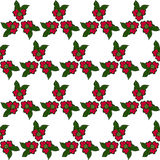 Seamless pattern of red flowers . Royalty Free Stock Photos