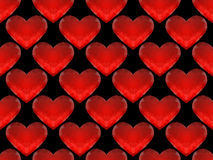 Seamless pattern of red glass hearts Royalty Free Stock Photo