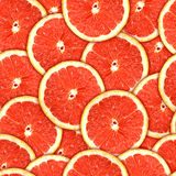 Seamless pattern of red grapefruit slices Stock Image