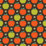 Seamless pattern of red and green apple Stock Images