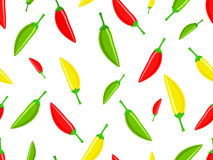 Seamless pattern red green chili peppers Stock Photography