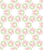 Seamless Pattern with red and green scarf Stock Images