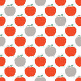 Seamless pattern of red and grey apple Royalty Free Stock Images