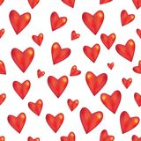 Seamless pattern Red heart on white background Royalty Free Stock Image