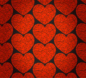 Seamless pattern with red  hearts Royalty Free Stock Photos
