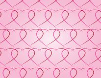 Seamless pattern of red hearts on a pink background Stock Image