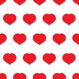 Seamless pattern with red hearts. Romantic love symbol of valentine day. Vector illustration Vector Illustration
