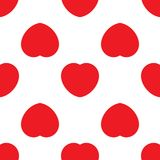 Seamless pattern with red hearts. Romantic love symbol of valentine day. Vector illustration Stock Illustration