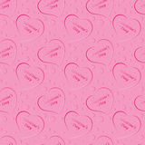 Seamless pattern of red hearts, valentines day on a  background Royalty Free Stock Photo