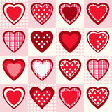 Seamless pattern with red hearts Royalty Free Stock Images