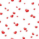 Seamless pattern with red hearts. Vector illustration. Stock Images