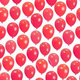 Seamless pattern with red helium balloons Happy Valentine`s day. For textile, wallpaper, wrapping, web backgrounds and other pattern fills Royalty Free Stock Image