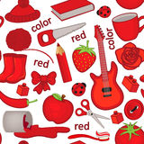 Seamless pattern with red objects Stock Images