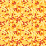 Seamless pattern with red, orange and yellow autumn leaves. Vector illustration. Stock Photography