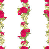 Seamless pattern with red peonies Stock Image