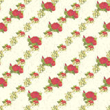 Seamless pattern with red peonies Royalty Free Stock Photo