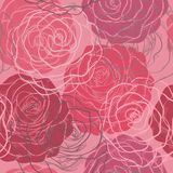Seamless pattern in red and pink roses Stock Photography