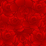 Seamless pattern of red rose Royalty Free Stock Photos