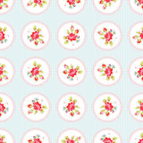 Seamless Pattern with red roses. Seamless floral Pattern with little red roses Stock Photography