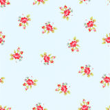 Seamless Pattern with red roses. Seamless floral Pattern with little red roses Stock Image