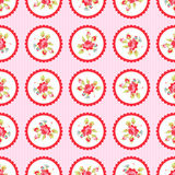 Seamless Pattern with red roses. Seamless floral Pattern with little red roses Royalty Free Stock Image