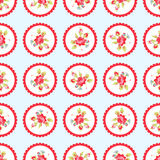 Seamless Pattern with red roses. Seamless floral Pattern with little red roses Royalty Free Stock Photo