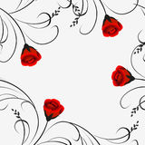 Seamless pattern with red roses. Stock Images