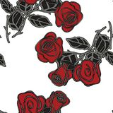 Seamless pattern with red roses. Vector illustration. Seamless pattern with red roses vector illustrationnbackground eps 10 stock illustration