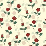 Seamless pattern with red roses. Vector illustration. Seamless pattern with red vector illustrationnbackground eps 10 royalty free illustration