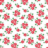 Seamless pattern with red roses. Royalty Free Stock Images