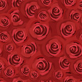 Seamless pattern with red roses. Vector EPS 8. Stock Photo