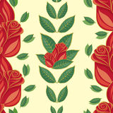 Seamless pattern, red roses Royalty Free Stock Image
