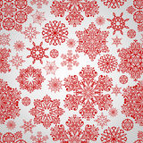 Seamless Pattern with red snowflakes Royalty Free Stock Photography