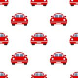 Red Car Flat Icon Seamless Pattern Royalty Free Stock Image