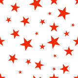 Seamless pattern with red stars. Stock Photography