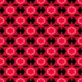 Seamless pattern with red stars stock illustration