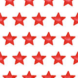 Seamless pattern with red stars Royalty Free Stock Photo